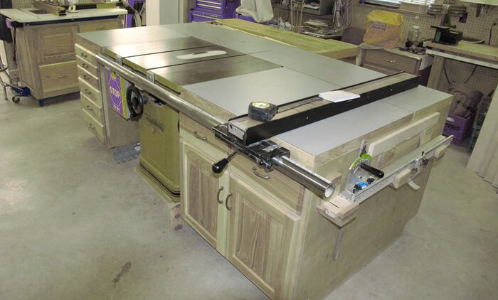 Delicieux You Must Think About The Size Of A Cabinet Table Saw In Relation To  Available Space. Your Choice Shouldnu0027t Take Up All The Space In A Room As  You Must ...