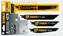 DEWALT DWA4101 Bi-Metal 2X Reciprocating Saw Blade Set, 8-Piece