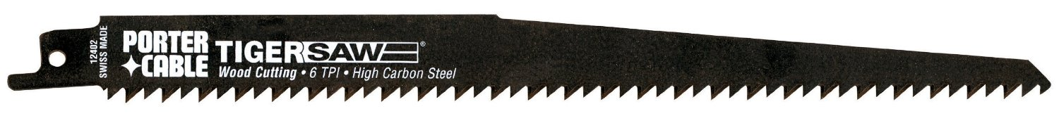 PORTER-CABLE 12402-5 9-Inch 6 TPI Reciprocating Saw Blade