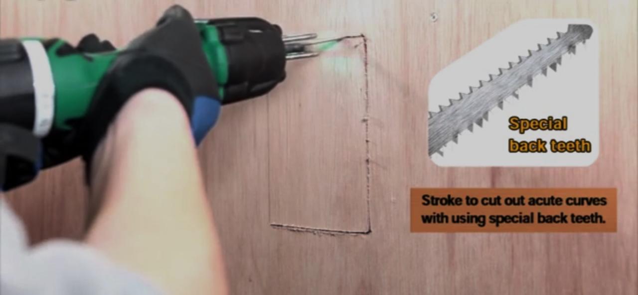 Reciprocating Saw Uses Wall