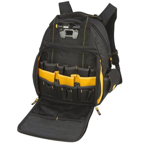 DEWALT DGL523 Lighted Tool Backpack Bag 06