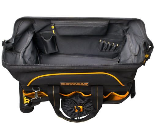 DeWalt 18 in. Pro Contractor's Closed Top Tool Bag 05