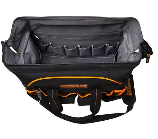 DeWalt 18 in. Pro Contractor's Closed Top Tool Bag 06