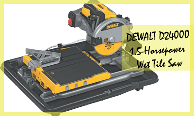 Dewalt D24000 1 5 Horse 10 Inch Wet Tile Saw