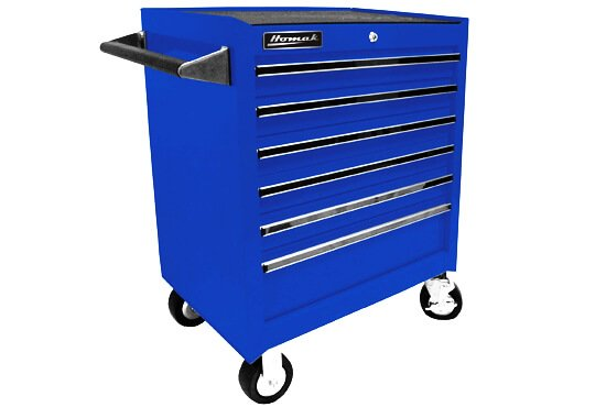 Homak BL04062601 27-Inch Professional 6 Drawer Rolling Cabinet, Blue