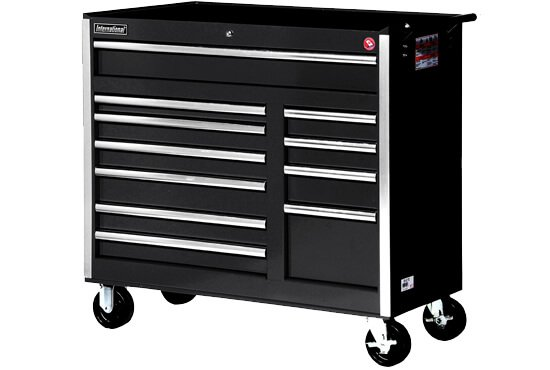 International VRB-4211BK 42-Inch 11 Drawer Black Tool Cabinet with Heavy Duty Ball Bearing Drawer Slides