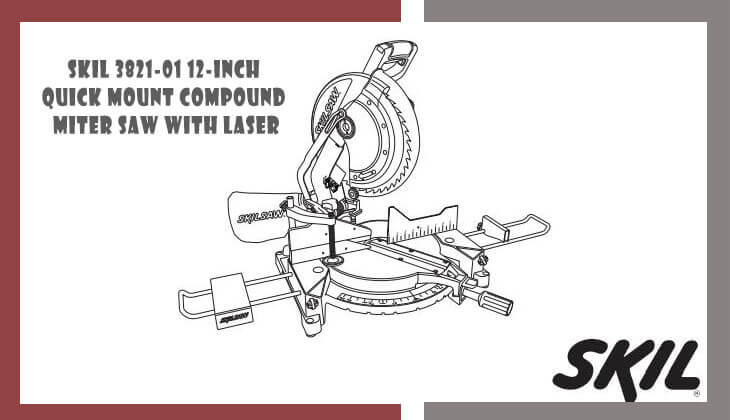 SKIL 3821-01 Quick Mount Compound Miter Saw with Laser