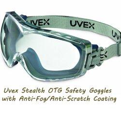 Uvex S3970DF OTG Safety Goggles