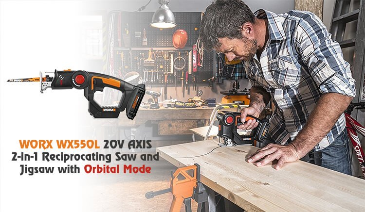 Review Of Worx Wx550l 20v Axis Reciprocating Saw And Jigsaw